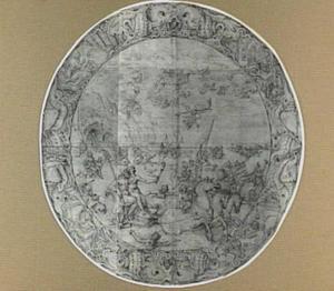 Ontwerp voor een zilveren schaal met Neptunus en Amphitrite, Tritonen en Najaden