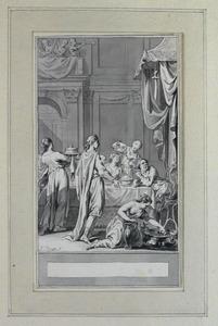 Illustratie bij 'Damocles' uit de Fabelen en vertelsels van F.C. Gellert