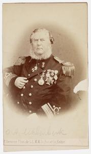 Portret van Olke Arnoldus Uhlenbeck (1810-1888)