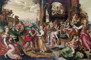 Rebecca en Eliëzer bij de bron (Genesis 24:17)