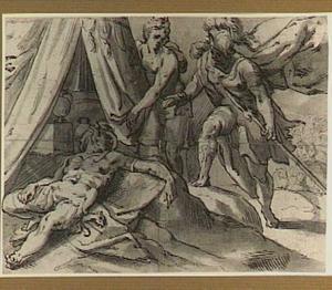 Jaël toont Barak het lichaam van Sisera (Richteren 4:12-24)