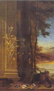 Jachtstilleven voor een standbeeld van Diana