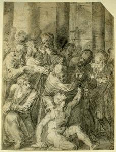 Petrus geneest de lamme bij de tempelpoort (Handelingen 3:1-8)