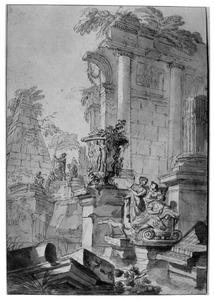 Capriccio met klassieke ruïnes