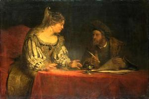 Mordechai schrijft de eerste Poerim-brief (Ester 8)