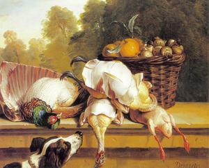 Stilleven met fazant en geplukte kip