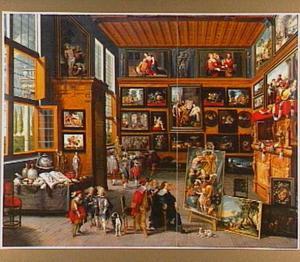 Het bezoek van een kunstliefhebber aan het atelier van een schilder