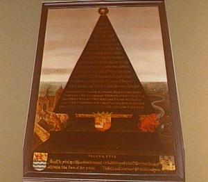 Gedenkpyramide bij de dood van Willem de Zwijger (1533-1584)