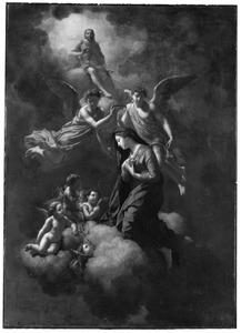 Engelen kronen Maria  tot koningin der hemelen