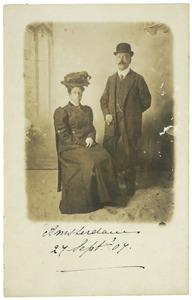 Portret van Carel baron d' Aulnis de Bourouill (1870-1933) en Sophia Petronella Druyvestein (1883-1951)