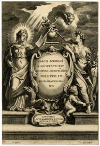 Titelpagina voor C. Scribani, Politico-Christianus, Antwerpen 1624