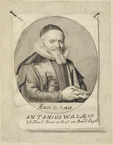 Portret van Antonius Walaeus (1573-1639)