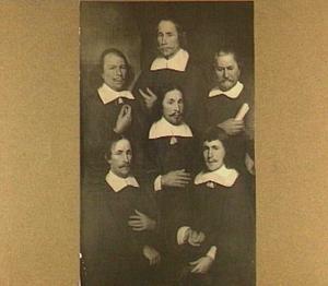 Groepsportret afkomstig uit de Confrerie van de Bus, Middelburg