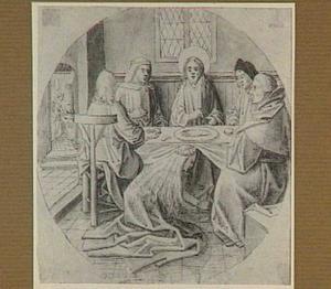 Maria zalft te Betanië de voeten van Christus (Johannes 12:3)