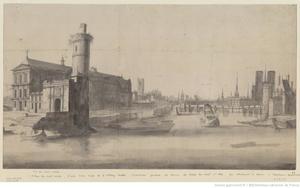 Gezicht op de oevers van de Seine, genomen vanaf de Porte Neuve