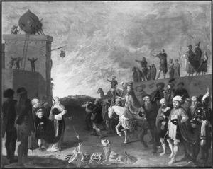 Allegorie op het ware protestantisme tegenover het valse katholicisme