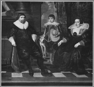 Familieportret van Johan van Yck (1590-1642), zijn echtgenote Margaretha Jandsr Musch (1599-1634) en hun zoon Johan Johansz van Yck (1623-1692)