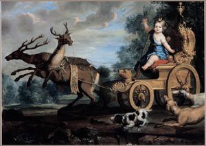 Portret van een onbekend meisje als Diana