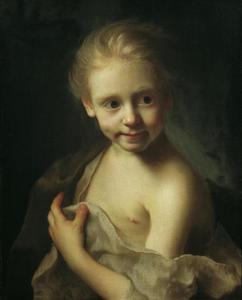 Portret van een blond meisje