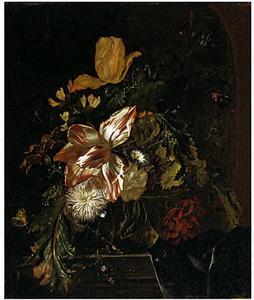 Bloemen in een glazen vaas