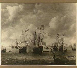 Zeeslag tussen Engelse en Hollandse Schepen