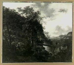Italianiserend landschap met een weg over een brug