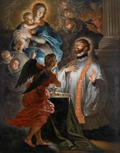 Het visioen van de H. Franciscus Xaverius  tijdens de heilige mis