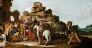 Jozef door zijn broers aan de Medianieten verkocht (Genesis 37: 28)