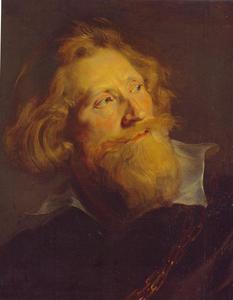 Portret van een baardige man