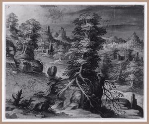 Rivierlandschap met Perseus en Andromeda