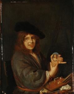 Portret van een jonge schilder, mogelijk een zelfportret van Adriaen van der Werff