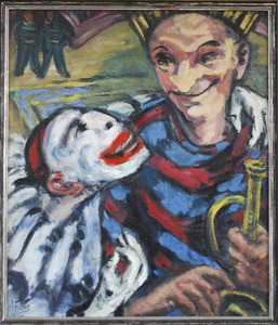 Twee clowns in circustheater Carré, Amsterdam