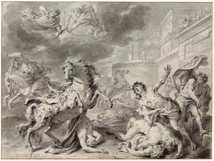 Apollo en Diana doden Niobe's kinderen (Metamorfosen)