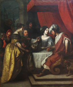Salome biedt brengt haar moeder Herodias het hoofd van Johannes de Doper