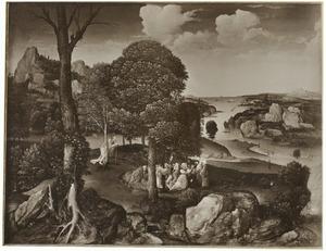 Landschap met de prediking van Johannes de Doper (Lucas 3:1-15)