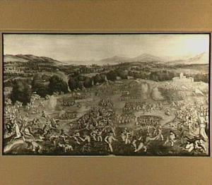 Veldslag tussen het leger van Karel V en de Arabieren