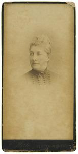 Portret van Christine van der Haer (1839-1888)