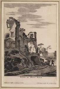 Gezicht op de ruïne van het paleis van Nero