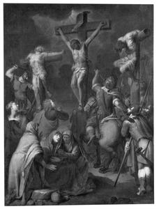 De Kruisiging van Christus met omstanders