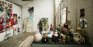 Uwe Poth in zijn atelier