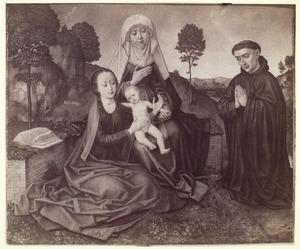 H. Anna-te-Drieën met een Fransiscaner monnik