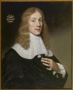Portret van een man genaamd Johan van der Haer (1633-1658)