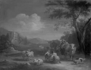 Landshap met herders