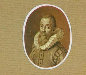 Portretminiatuur van de kunstenaar Hendrick Goltzius (1558-1617)