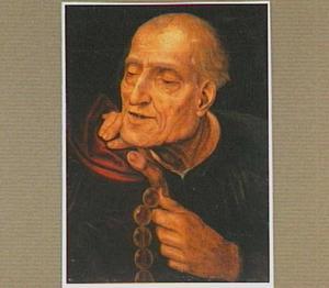 Oude man met een rozenkrans