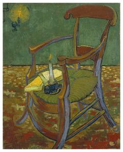 Gauguin's leunstoel, een kaars en boeken