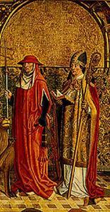 De H. Hieronymus en een bisschop