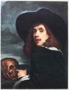 Zelfportret met schedel