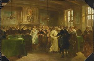 Handelsgezantschap van de Tsaar van Rusland ontvangen door Prins Maurits in 1614
