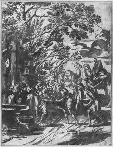 Rebecca en Eliëzer bij de waterput (Genesis 24)